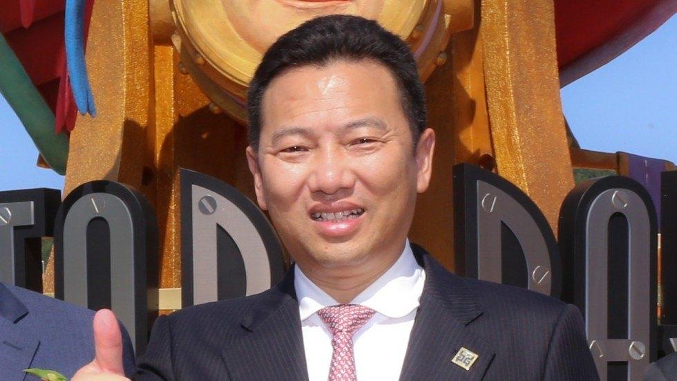 Landing International chairman Yang Zhihui at Shinhwa World Jeju