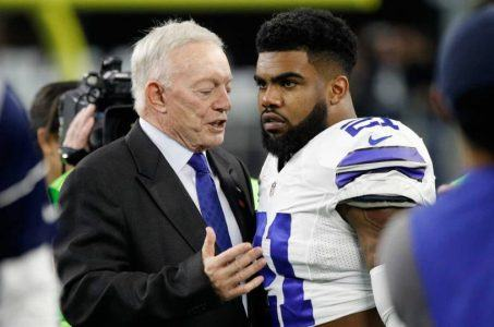 Jerry Jones and Ezekiel Elliott