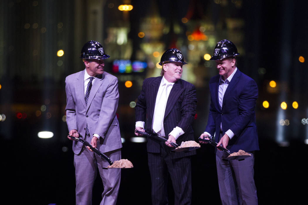 Raiders stadium groundbreaking Las Vegas