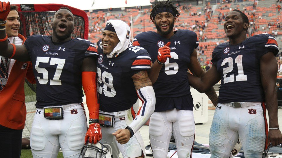 Auburn football celebration