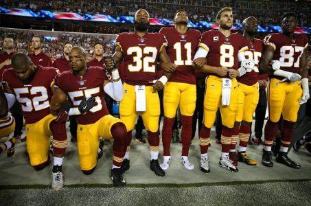 sports scandals 2017 NFL kneeling