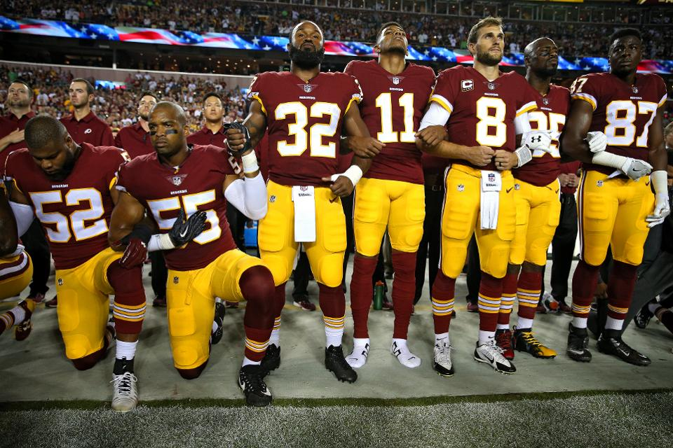 sports scandals 2017 NFL kneeling