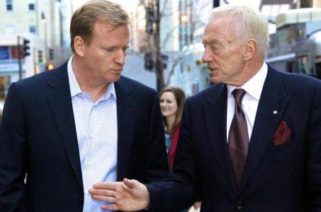 Jerry Jones Roger Goodell sports betting