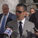 "Skinny"" Joey Merlino arrives in court"