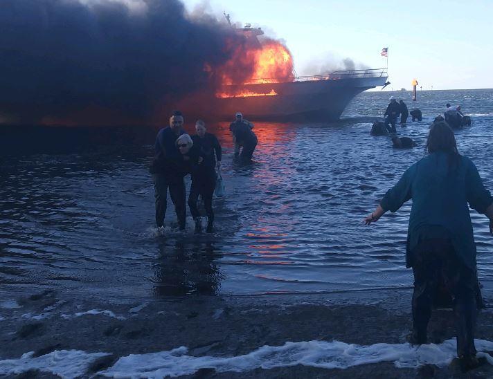 Florida casino boat fire Tropical Breeze