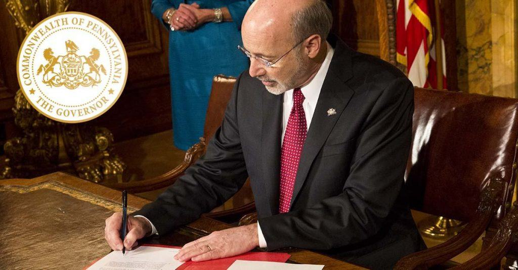 Pennsylvania Governor Tom Wolf legalizes online gambling