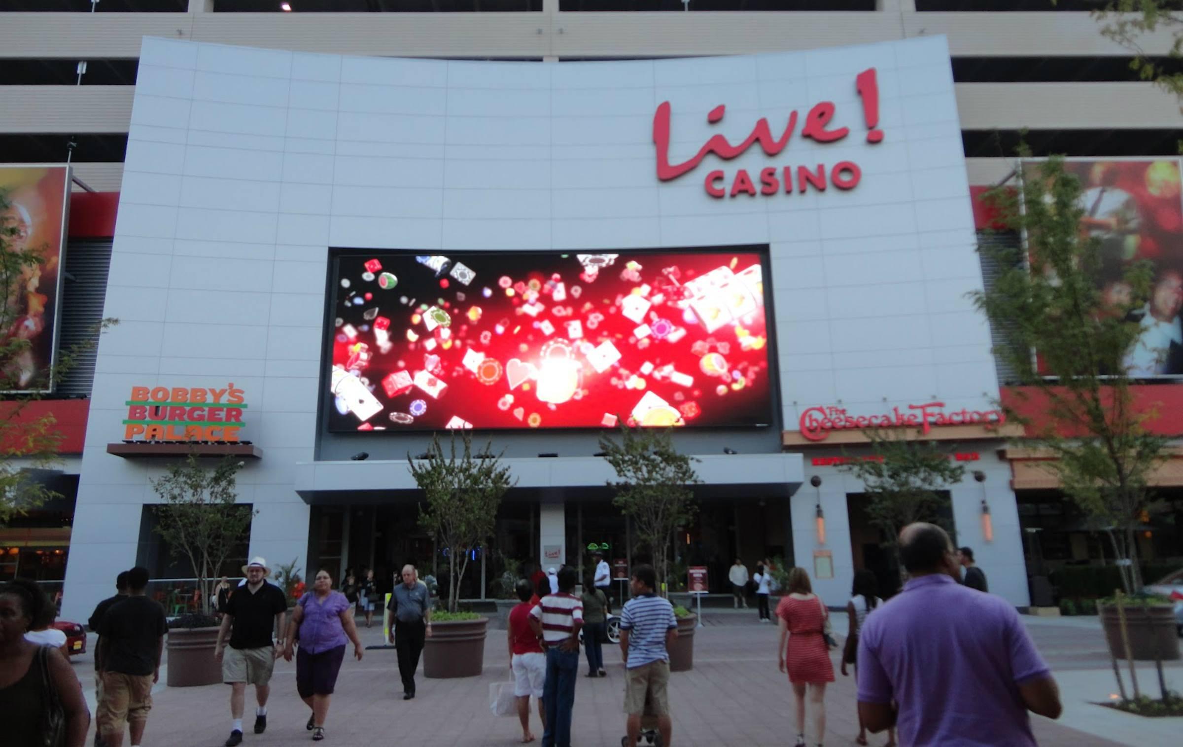 Maryland Live casino smoking gaming area