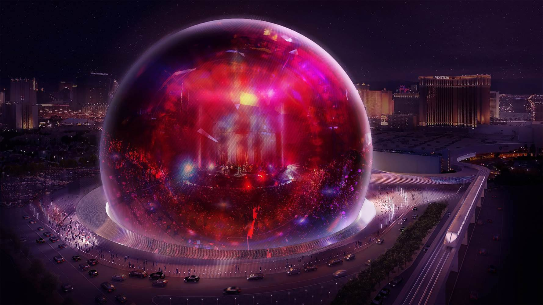 Futuristic Concert Venue Msg Sphere Waits For Faa Clearance For Takeoff
