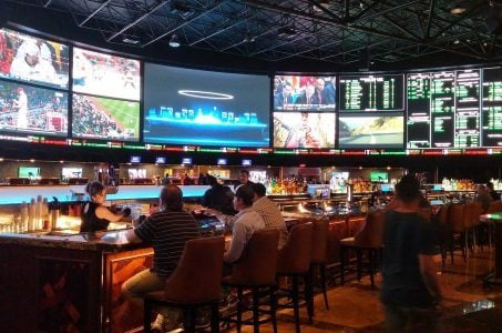 The William Hill sports book at the Westgate in Las Vegas