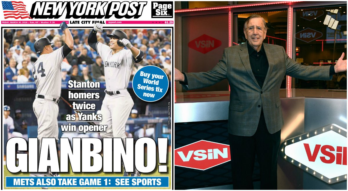 sports betting media New York Post VSiN