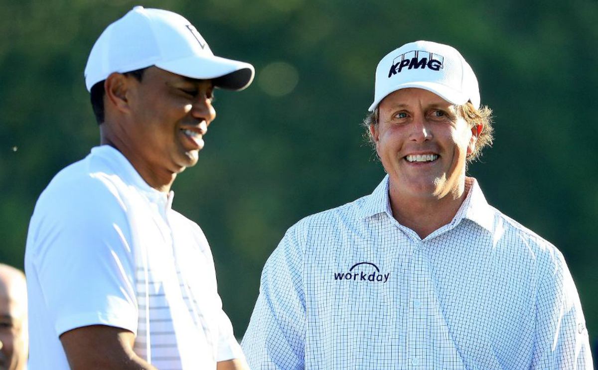 Tiger Woods odds Phil Mickelson showdown