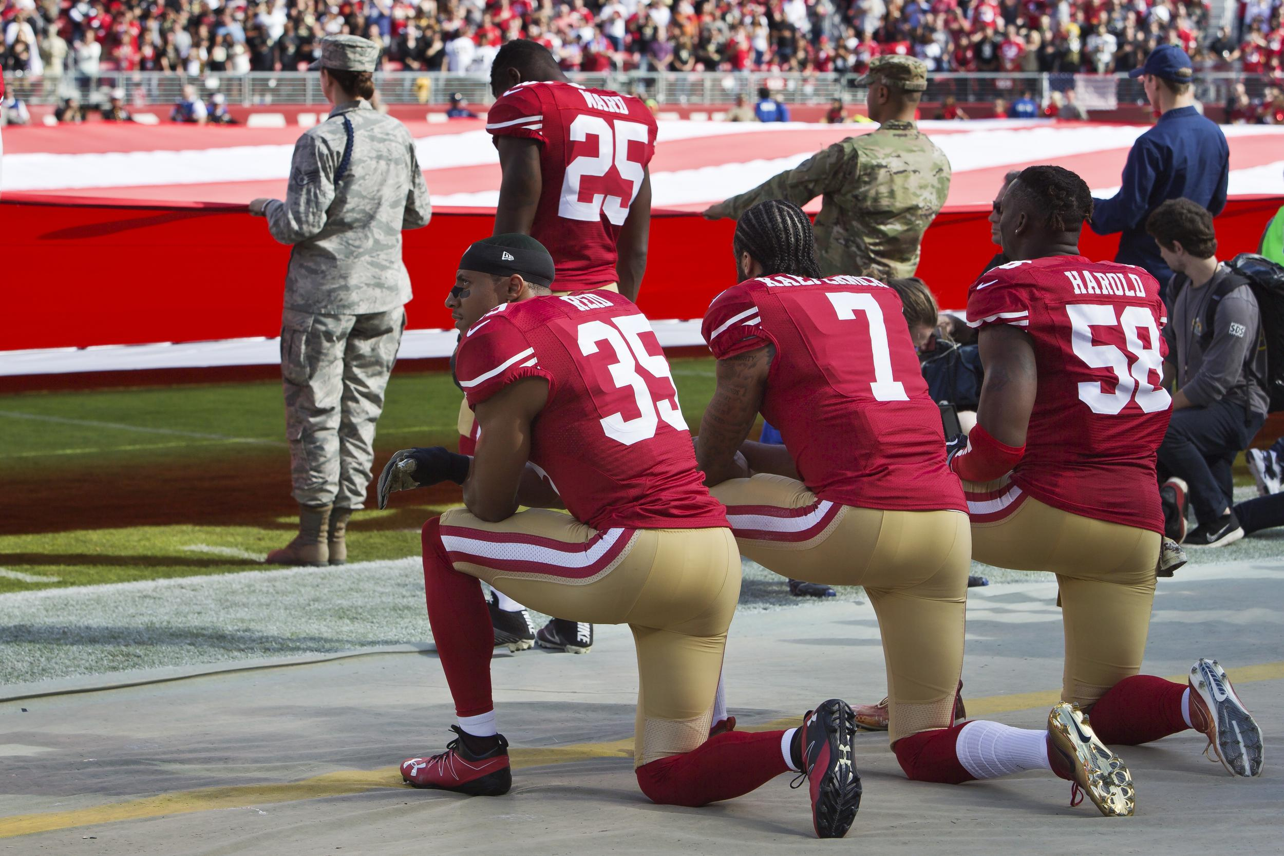NFL kneeling policy national anthem