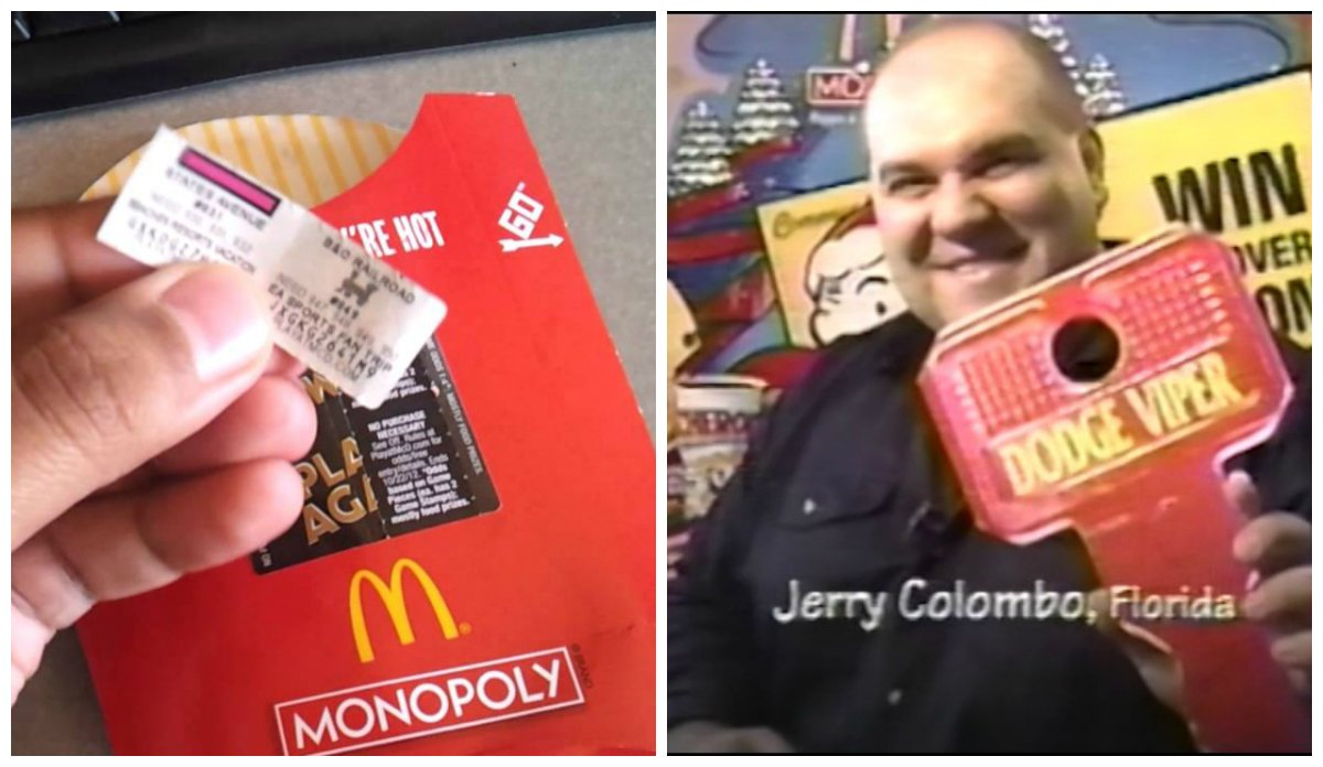 Instant win mcdonalds monopoly fraud