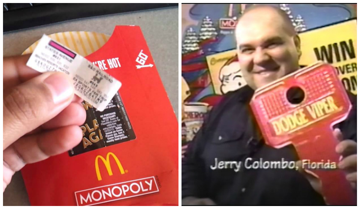 McDonald's Monopoly game fraud