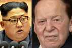 Kim Jong Un and Sheldon Adelson