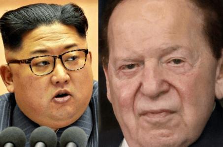Kim Jong Un and Sheldon Adelson