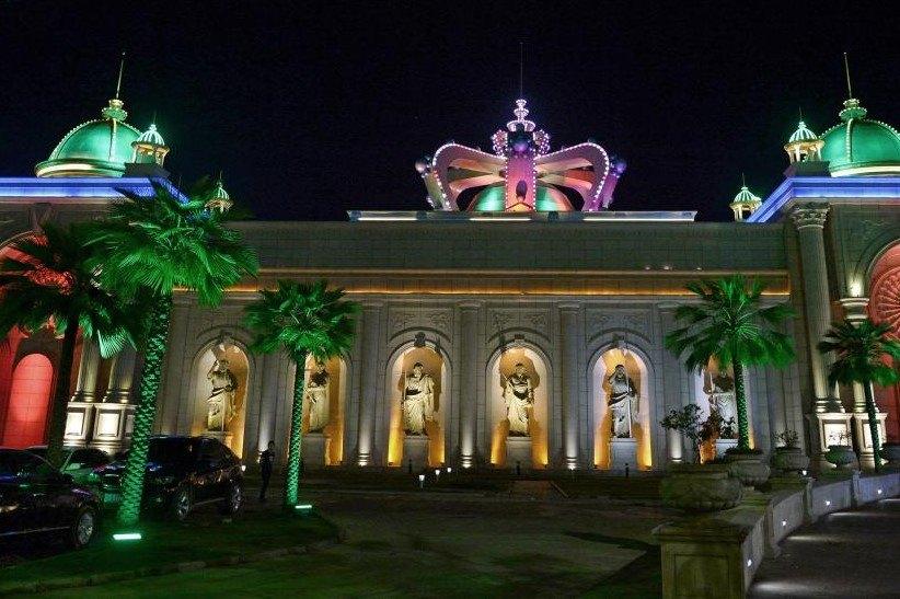 Laos casino facade