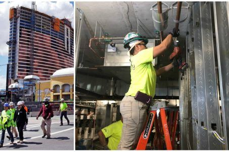 Encore Boston Harbor women construction