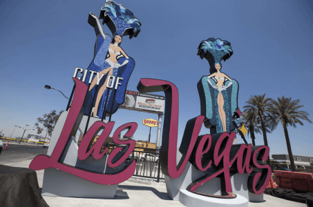Welcome to the City of Las Vegas sign
