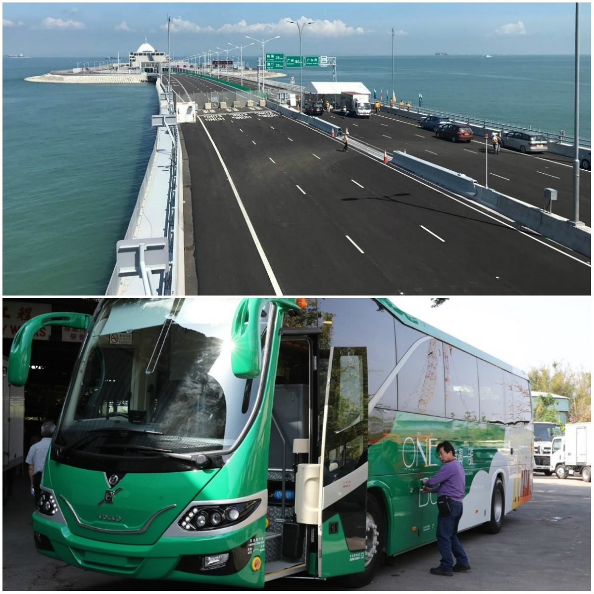 Macau casino bus Hong Kong bridge