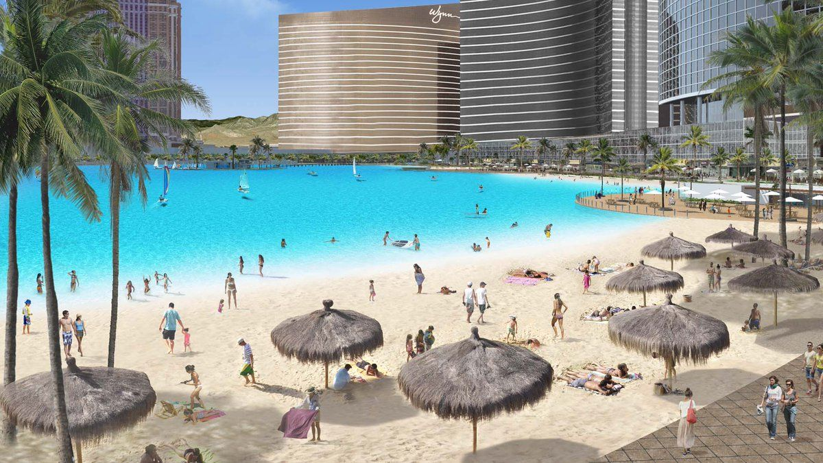 Wynn Resorts Paradise Park lagoon