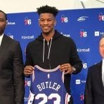 Philadelphia 76ers Introduce Jimmy Butler, See Finals Odds Improve