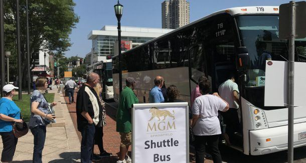 MGM Springfield bus Connecticut tribes