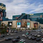 MGM Grand Strip entry Las Vegas pedestrian