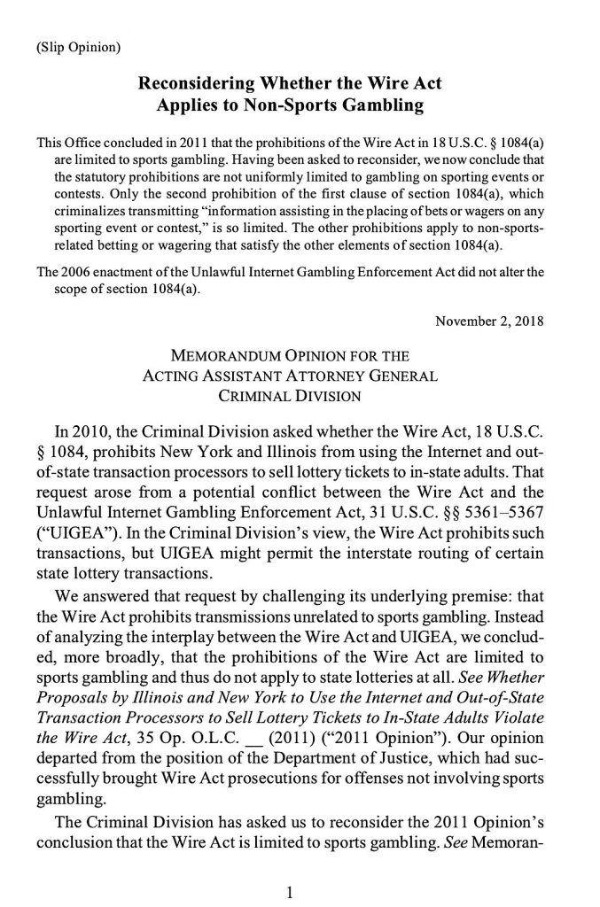 Internet gambling prohibition enforcement act issue gambling internet online