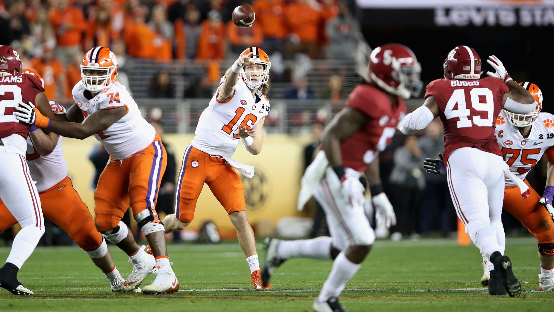 Clemson Tigers Alabama football odds
