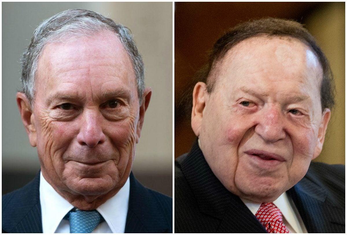 Michael Bloomberg Sheldon Adelson 2020