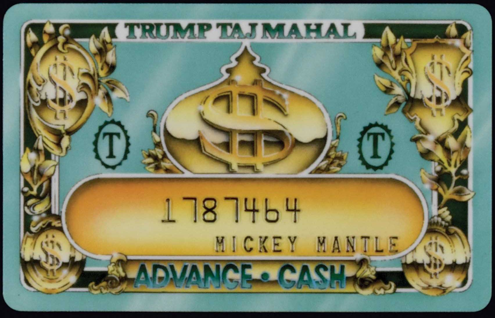 Mickey Mantle Trump Casino Player Cards Up For Auction