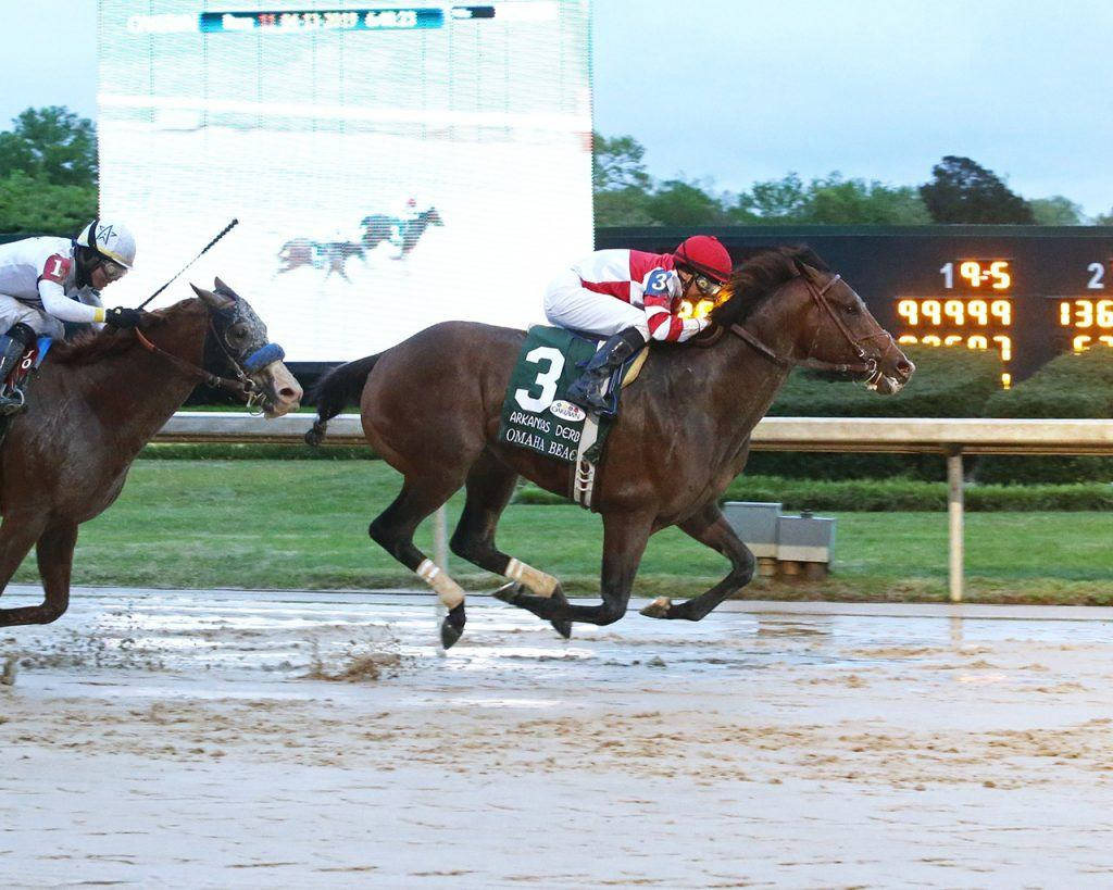 9754a37182f With Improbable on his heels, Omaha Beach wins the Arkansas Derby last month  at Oaklawn Park. The win helped push the Richard Mandella-trained colt to  ...