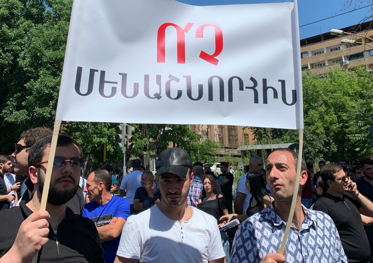 Armenia gambling laws parliament protest