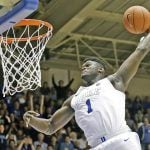Oddsmakers Believe Duke's Zion Williamson a Slam Dunk for Top Pick in Thursday's NBA Draft