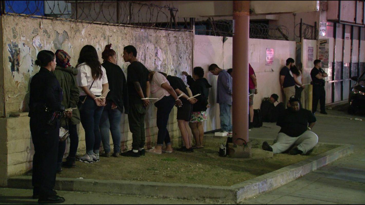 LAPD arrest gambling den Los Angeles