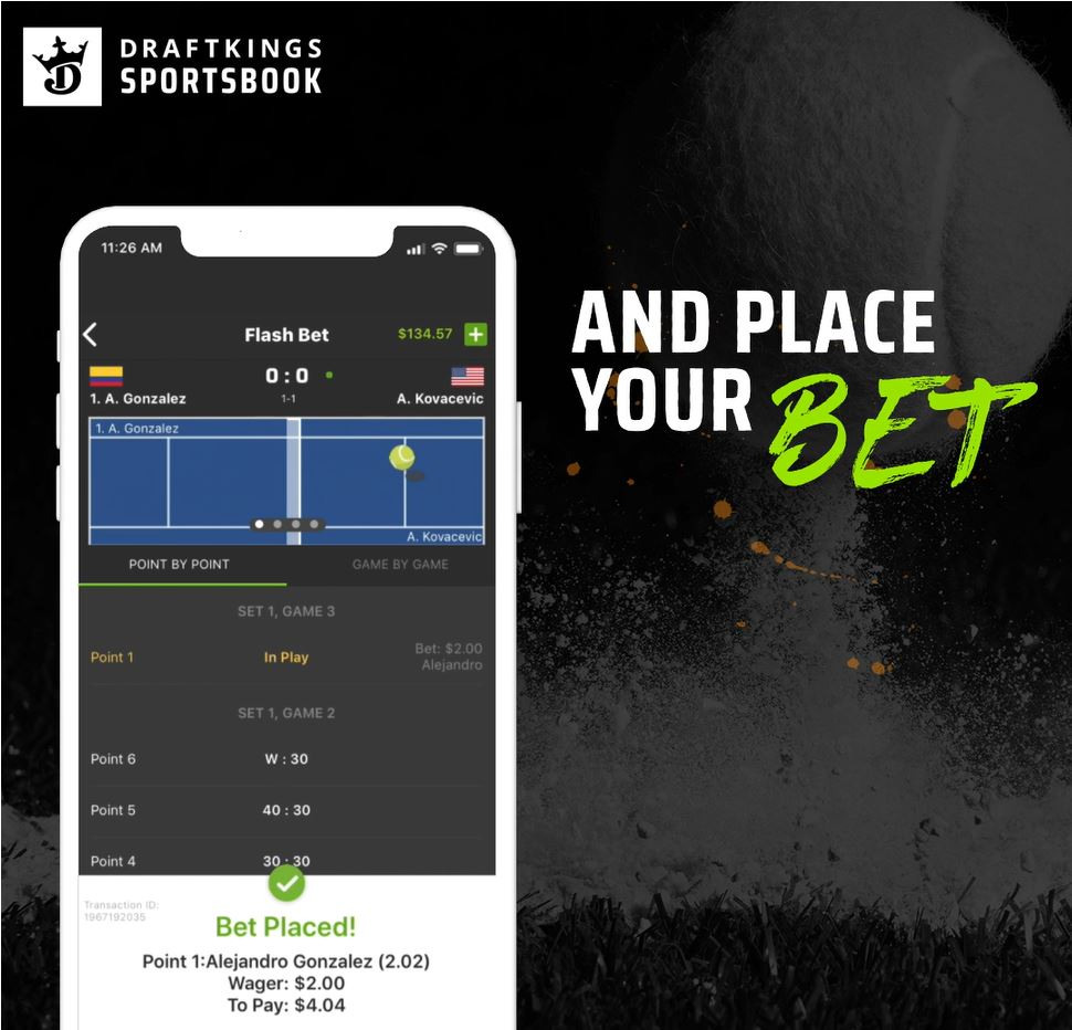 Draftkings Using Wimbledon To Roll Out New In Game Product To