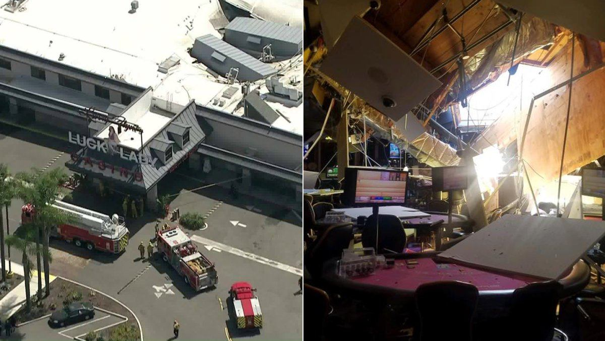 The Roof Collapsed Monday At The Lucky Lady Casino In Los