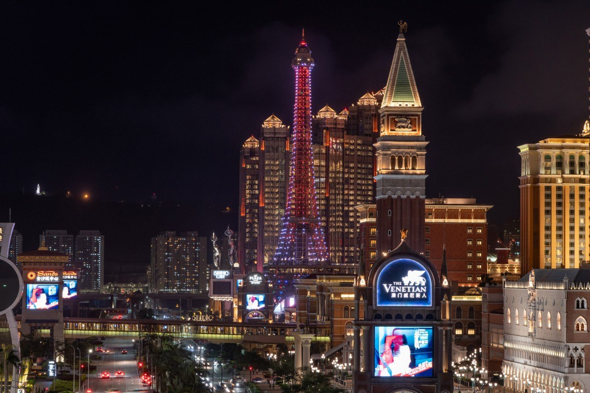 Macau gross gaming revenue trade war