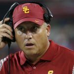 USC Has Clay Helton on a Tight Leash, Odds Are Also Short He'll be The First College Coach Fired This Year