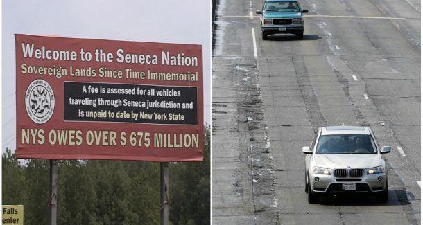 New York Thruway Seneca Nation casino