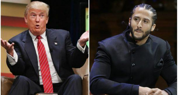 Donald Trump Colin Kaepernick NFL odds