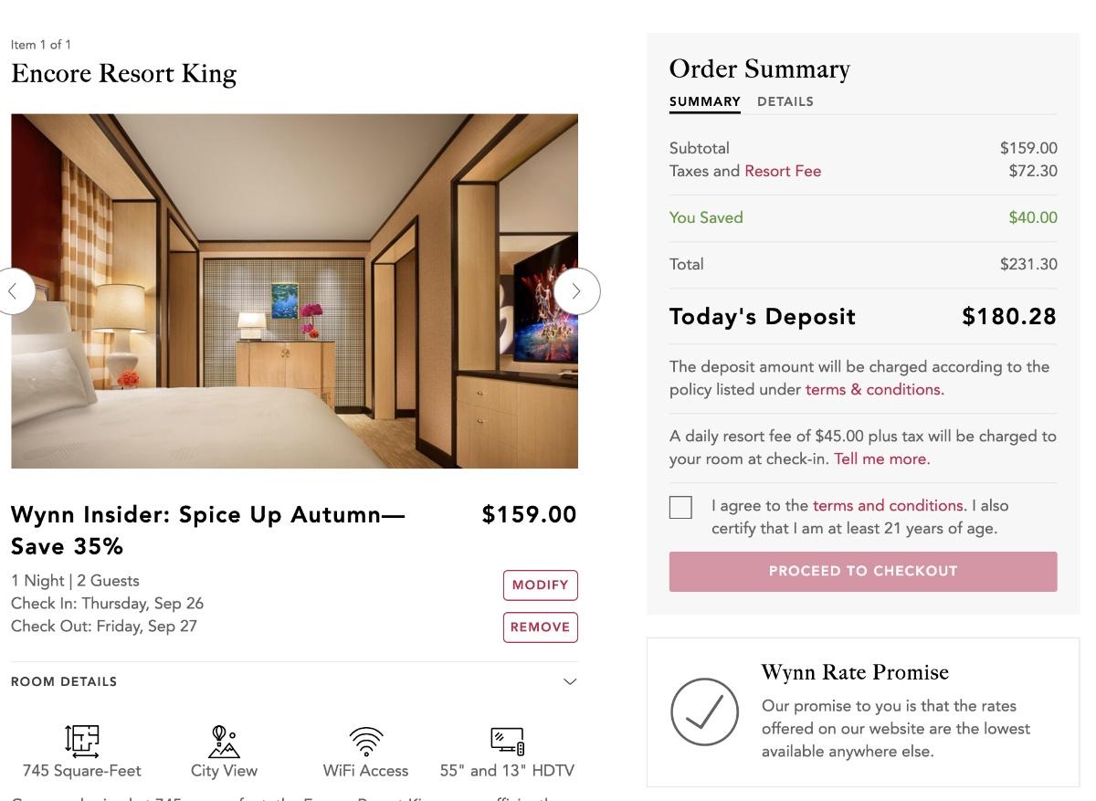 resort fees Las Vegas casino hotel