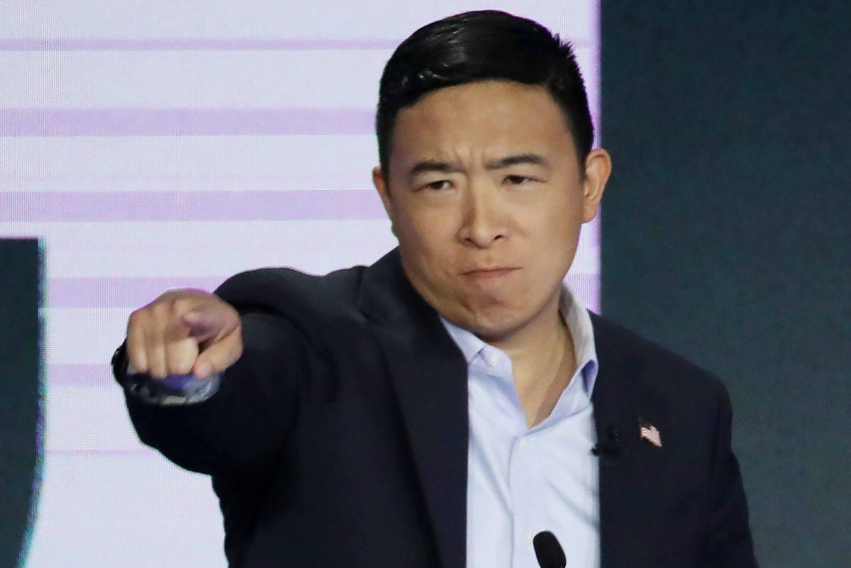 Andrew Yang online poker 2020 odds
