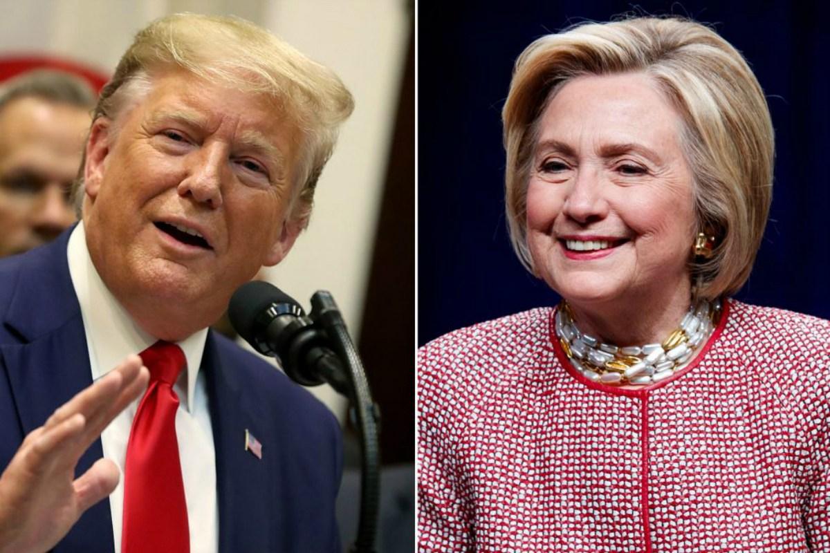 Hillary Clinton 2020 odds Donald Trump