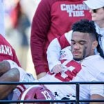 Alabama College Football Odds Lengthen Following Tua Season-Ending Injury, Ohio State and LSU Favorites