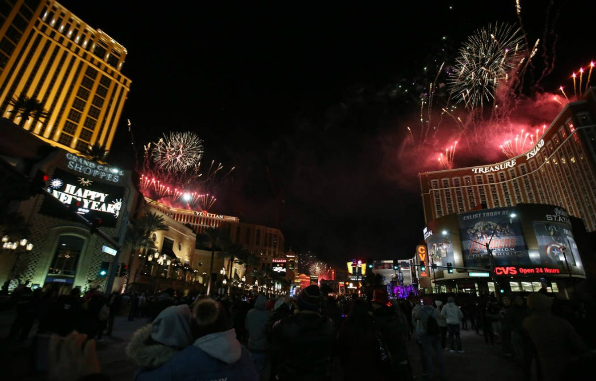 Las Vegas tourism New Year's Eve