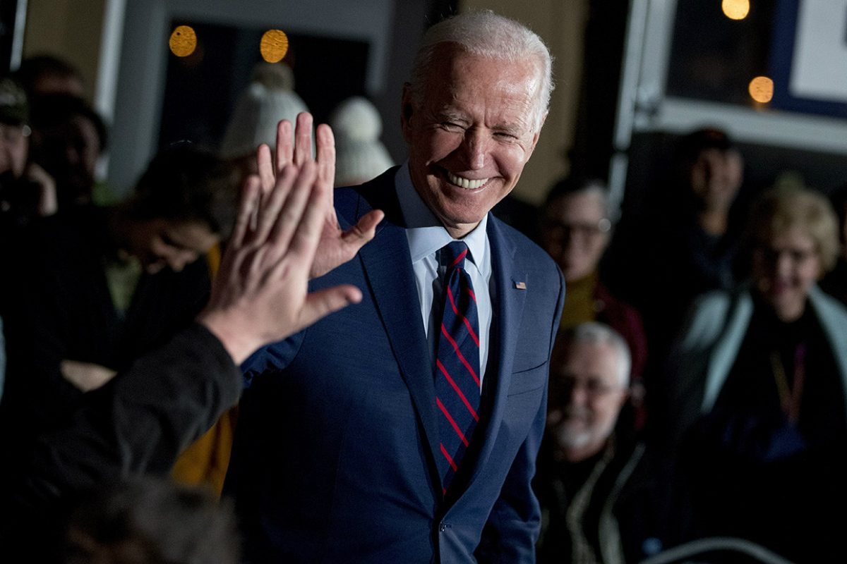 Joe Biden 2020 odds Democratic