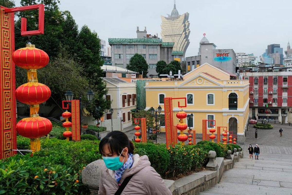 Macau visitor arrivals China coronavirus