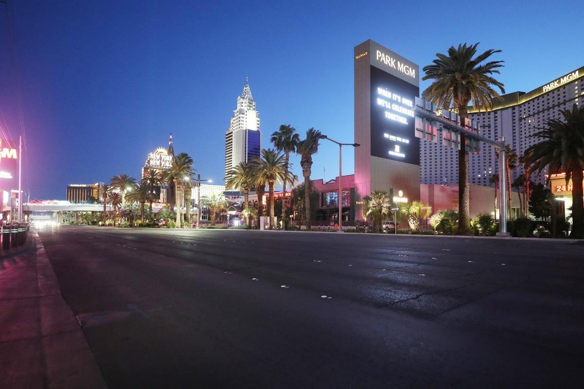 Nevada casinos April GGR Las Vegas